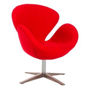 Vista sillon Lugo cachemir rojo