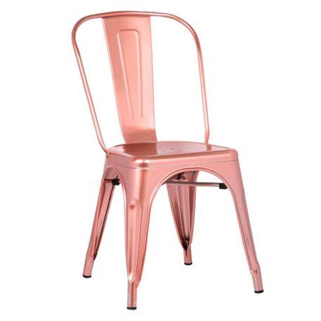 silla cuatro patas edicion limitada toly metal gold rosa.