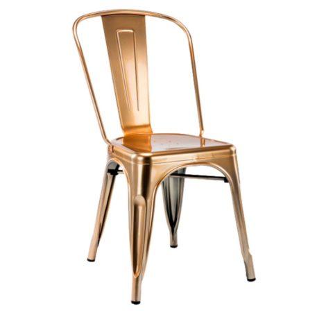 silla cuatro patas edicion limitada toly metal gold oro.