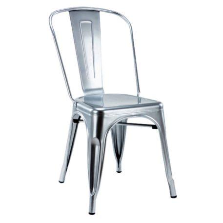 silla cuatro patas edicion limitada toly metal gold plata.