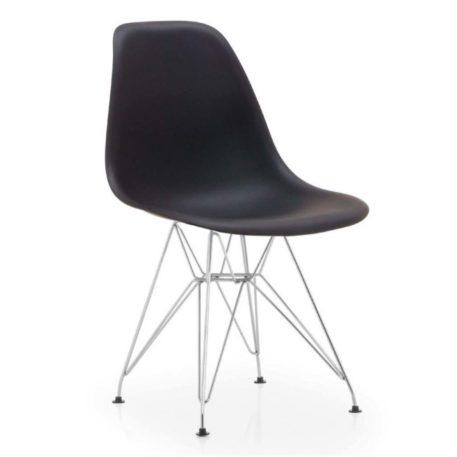 vista silla golf va estructura cromada carcasa negra