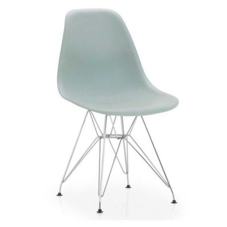 vista silla golf va estructura cromada carcasa gris clara