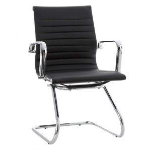 Vista de sillón con brazos modelo Activity 6 cromado y negro