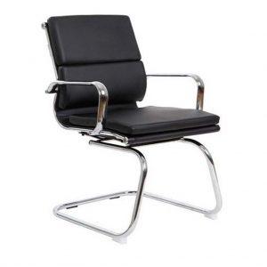 Vista de sillón con brazos modelo Activity 4 cromado y negro