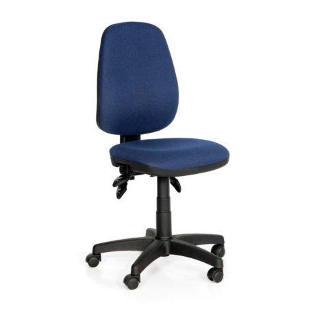 Vista de silla Melody asiento y respaldo tapizado azul oscuro