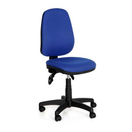Vista de silla Melody asiento y respaldo tapizado azul vivo