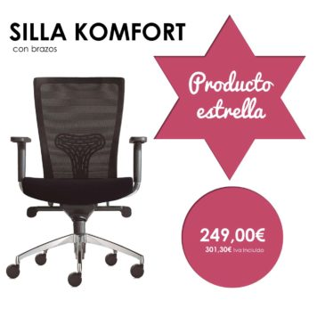 silla giratoria con brazos komfort producto estrella
