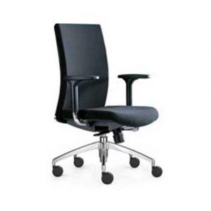 vista silla con brazos regulables silla star negra