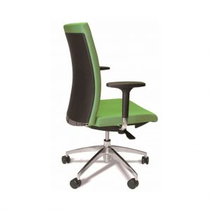 vista detalle trasero de la silla star verde con brazos
