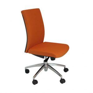 vista silla star star sin brazos en tela naranja
