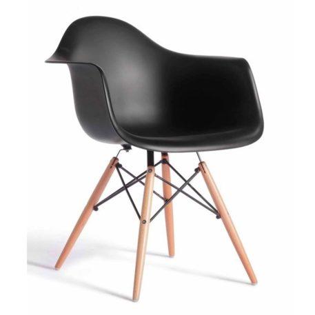 Detalle del asiento con brazos del sillón hercules negro