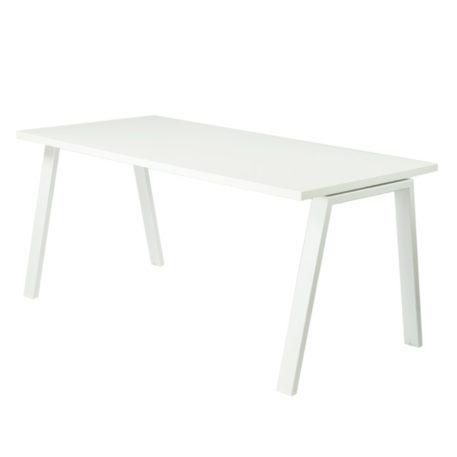 Mesa atlántica estructura blanca inclinada tapa blanca.