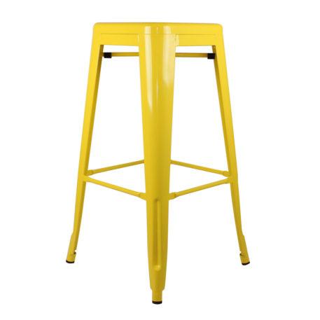 Taburete alto Toly metal amarillo