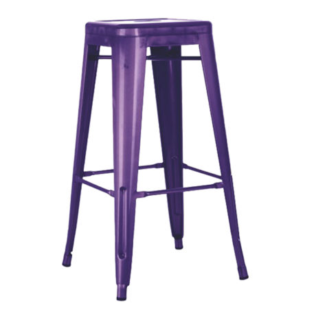 Taburete alto Toly metal violeta