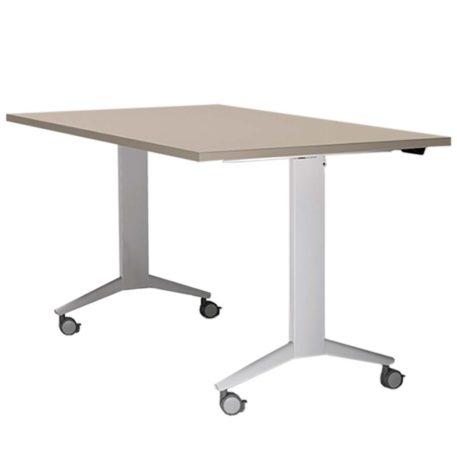 mesa colectividad con ruedas abatible. tablero posicion trabajo
