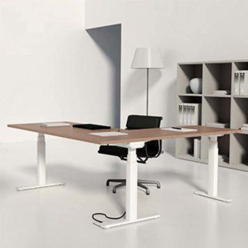 mesa con ala elevables en altura sistema electrico.