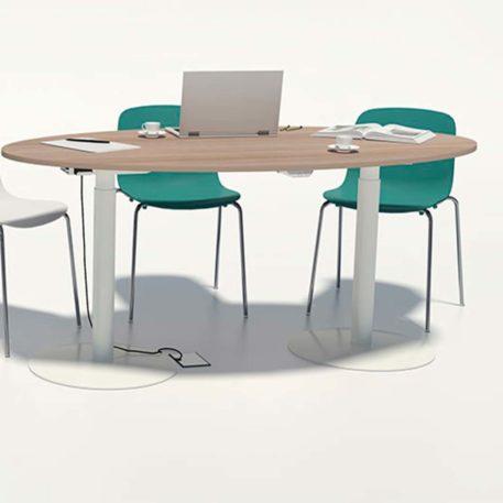 mesa individual elevable en altura sistema electrico. colores a elegir.