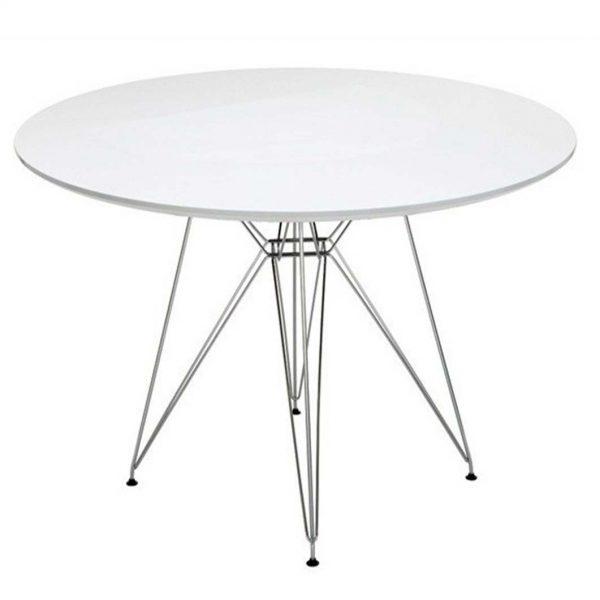 mesa multiusos estructura varilla cromada tablero blanco