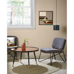 foto de ambiente de mesa dila y butaca mandeo