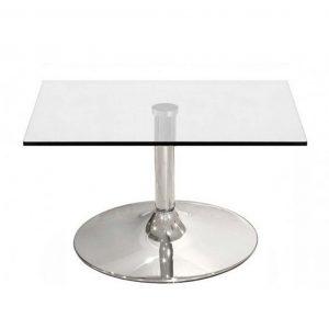 mesa cristal auxiliar cuadrada