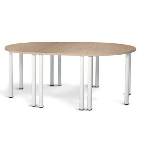 composicion de mesa de reunion con mesas modulares