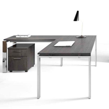 mesa concept free con ala y cajonera