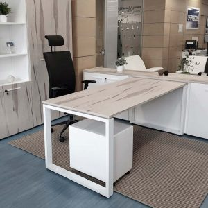 mesa de dirección estructura blanca tablero melamina