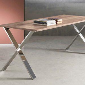 mesa de dirección equis pata acero inoxidable
