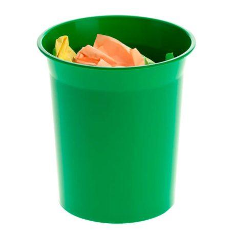 papelera pequeña basica circular verde