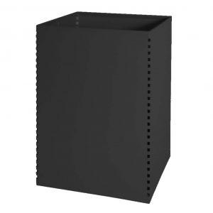 papelera metalica cuadrada negra