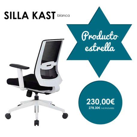 silla modelo kast giratoria con brazos blanca producto estrella