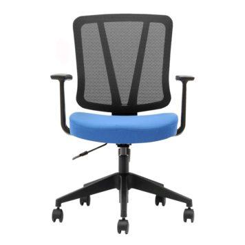 silla con brazos giratoria modelo arnoia red tapizado azul