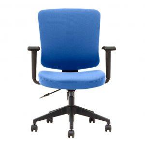silla con brazos giratoria modelo arnoia toda tapizada azul