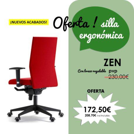 silla giratoria con brazos modelo zen nuevos acabados
