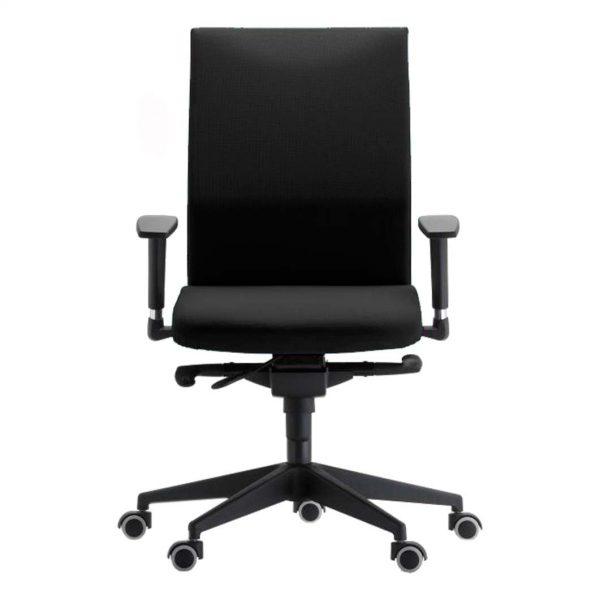 silla giratoria con brazos modelo zen negra