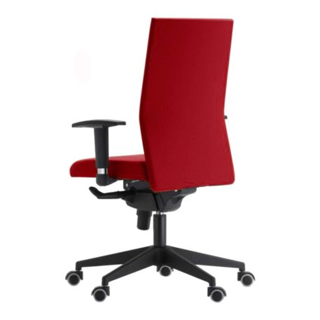 silla giratoria con brazos modelo zen roja