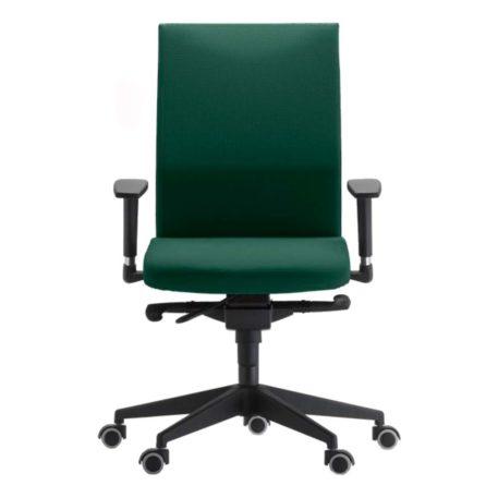 silla giratoria con brazos modelo zen verde