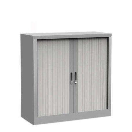 armario bajo metálico de puertas persiana