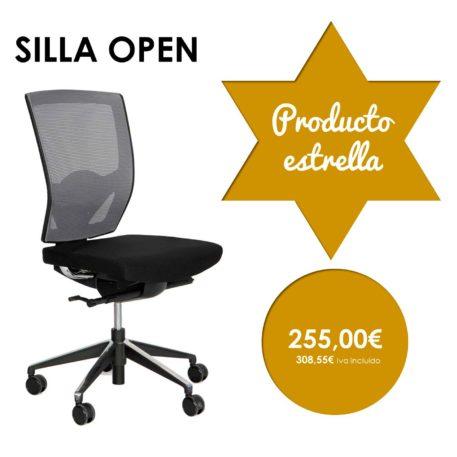 silla giratoria sin brazos modelo open producto estrella