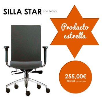 silla giratoria con brazos modelo star producto estrella